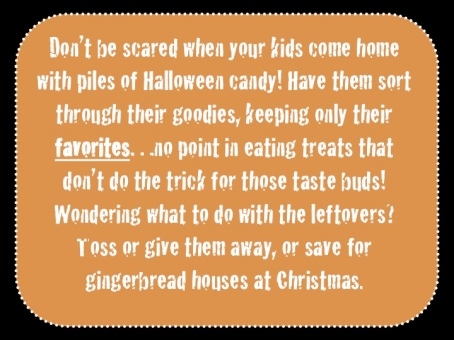 Don't be scared when your kids bring home piles of Halloween candy. Have them pick their favorites, and repurpose the leftovers.