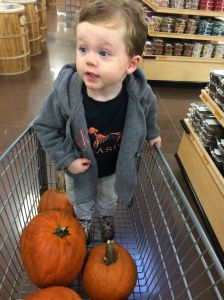 Shopping for Pumpkins at Sprouts on a Rainy Day