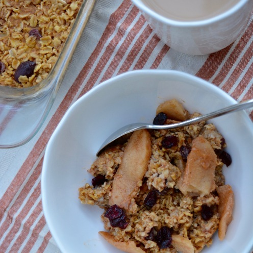 Pumpkin Spice Apple Cinnamon Baked Oatmeal Fall Recipe